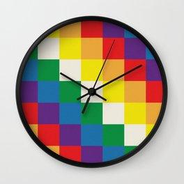 Wiphala Wall Clock