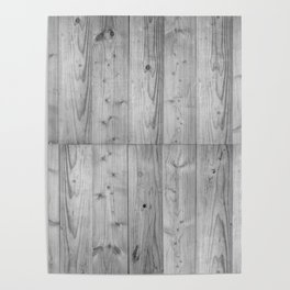 Wood 6 Black & White Poster