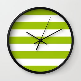 Limerick - solid color - white stripes pattern Wall Clock