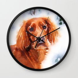 Irish Setter Wall Clock