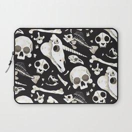 black Skulls and Bones - Wunderkammer Laptop Sleeve