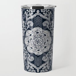 Centered Lace - Dark Travel Mug