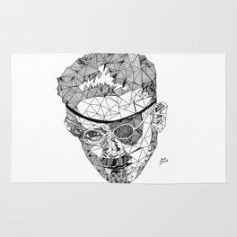 James Joyce - Hand-drawn Geometric Art Print Rug