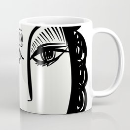 Black and White Portrait of a Woman by Emmanuel Signorino Coffee Mug