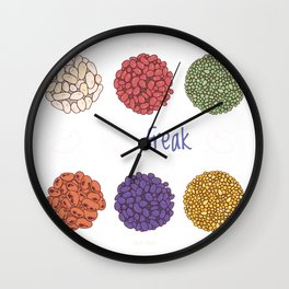 bean freak  Wall Clock