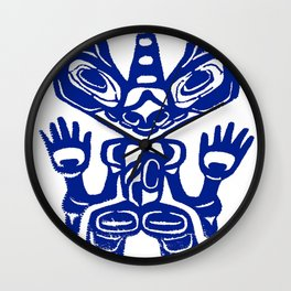 End of the Trail- Blue Wall Clock