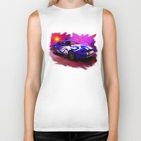 mustang Biker Tanks featuring Wild Mustang by JT Digital Art