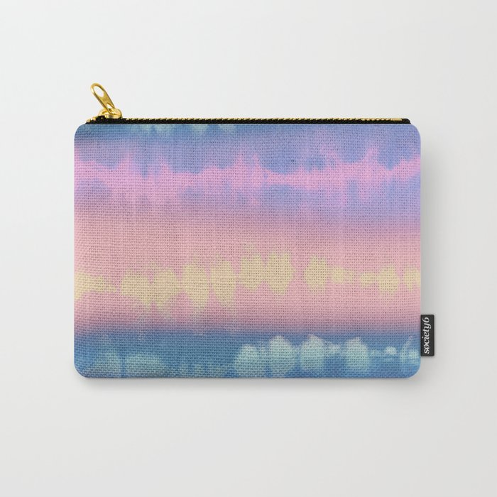 Pastel tie dye stripe Carry-All Pouch