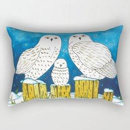 Noah's Ark - Snowy Owl Rectangular Pillow