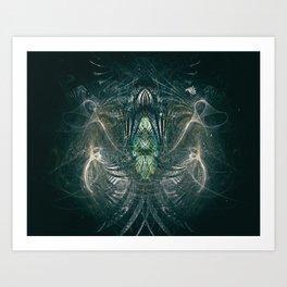 The Throne of the Necromancer Art Print