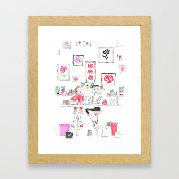 Cafe Girls Framed Art Print