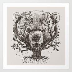 Bear n Tree Art Print