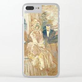 """Henri de Toulouse-Lautrec """"Au Bal masqué de l'Elysée Montmartre"""" Clear iPhone Case"""