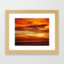 Another Beautiful Costa Rica Sunset Framed Art Print
