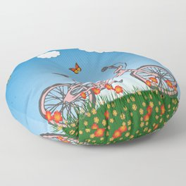 Pink bicycle Floor Pillow