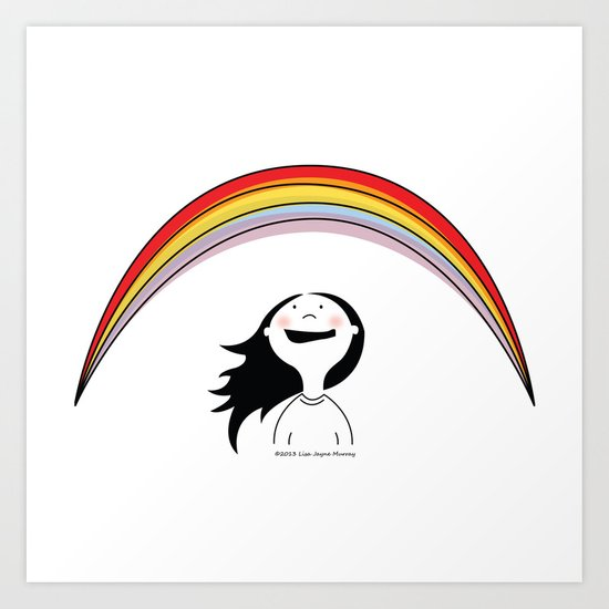 MiniJoy #3 - Seeing a Rainbow Art Print