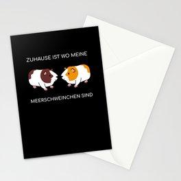 Zuhause ist wo meine Meerschweinchen sind Nager Meerschweine Stationery Cards