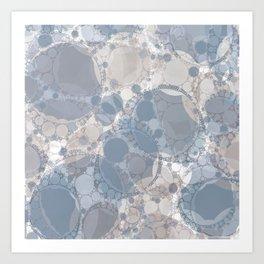 Round & Round Smoke & Steel Art Print