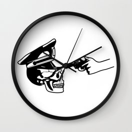 Aim skull cop Wall Clock