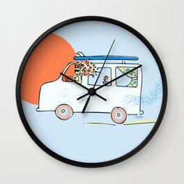 Happy Little Surf Van Wall Clock