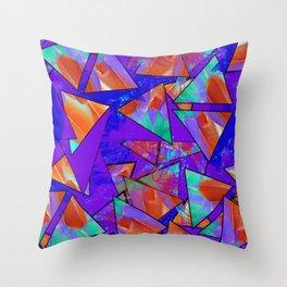 Blue Kaleidoscopic Throw Pillow