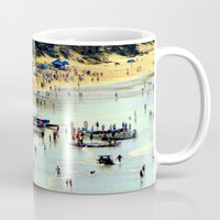 rowing Mugs featuring Rowing Regatta by Chris' Landscape Images & Designs