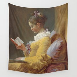 Jean Honoré Fragonard Young Girl Reading c. 1769 Painting Wall Tapestry