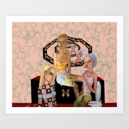 bathroom talks Art Print