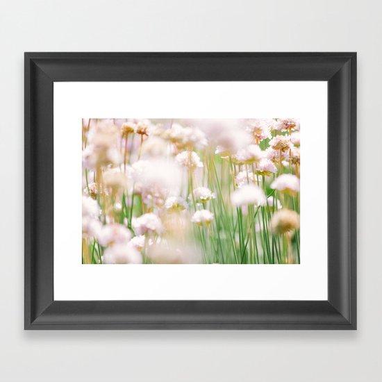 Flower Field Framed Art Print