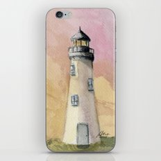 Lighthouse At Sunset iPhone & iPod Skin