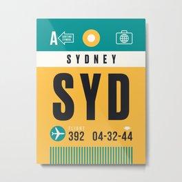 Luggage Tag A - SYD Sydney Australia Metal Print