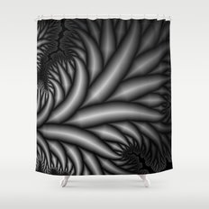 Black and White Fractal 2 Shower Curtain