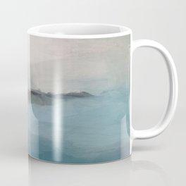 Abstract Painting, Light Blue, Teal, Sage Green Prints Modern Wall Art, Affordable Stylish Coffee Mug