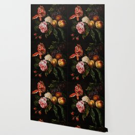"Ernst Stuven ""Still-life with peaches"" Wallpaper"