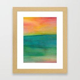 Ocean Sunset Series, 4 Framed Art Print