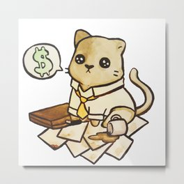 Business Cat Metal Print