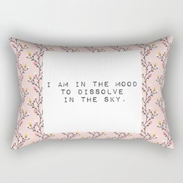 I am in the mood to dissolve  in the sky - V. Woolf Collection Rectangular Pillow