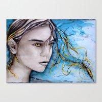ale giorgini Canvas Prints featuring Ale by Alux Medina