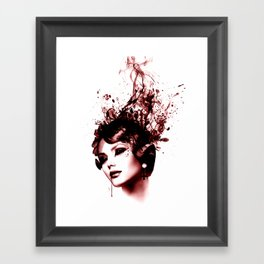 the woman in red Framed Art Print