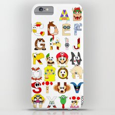 Super Mario Alphabet iPhone 6s Plus Slim Case