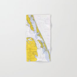 Vintage Map of The Outer Banks NC (1972) Hand & Bath Towel