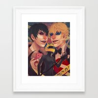 durarara Framed Art Prints featuring Durarara!! by poopler