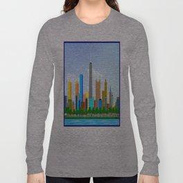 Skyscraper City vector - Gabriel Kasumu Long Sleeve T-shirt