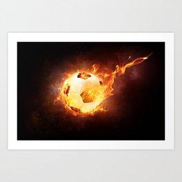 Fire Football Art Print