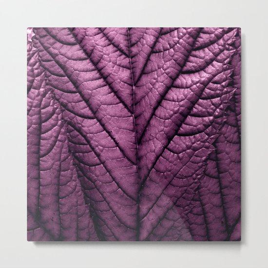 purple leaf structure XVI Metal Print