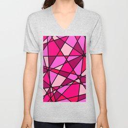 Shattered Pink Unisex V-Neck