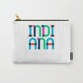 Indiana State Mid Century, Pop Art Mondrian Carry-All Pouch