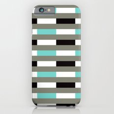 Turquoise, black & gray line pattern Slim Case iPhone 6s