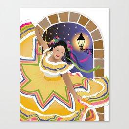 Fiesta Mexican Dancer Canvas Print