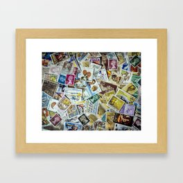 Stamps Framed Art Print